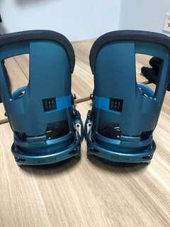 Men's Burton Cartel EST snowboard bindings M size boy blue color