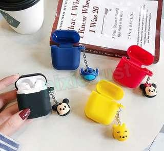 tsumtsum airpod casing with keychain