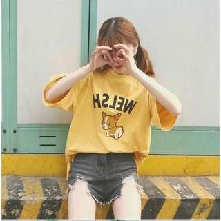 T-shirt Top _ Yellow
