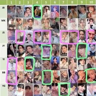 (WTT/WTS) Got7 Photocards for Present:You/Present: You & Me