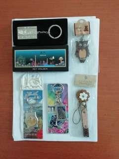 Brand new. Keychains of Malaysia and from other countries such as Taiwan and Thailand and Macau.