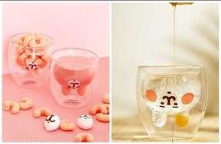 ++代購++卡娜赫拉兔兔造型雙層玻璃杯