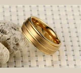 Cincin Stainless Steel ring warna Gold