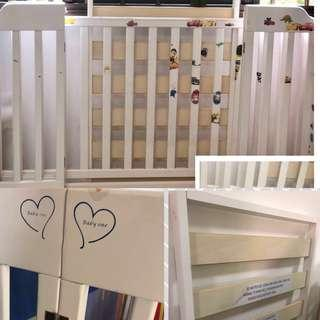 Preloved  cots , mattress, Potty, Dinning table