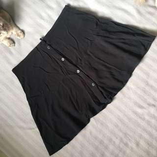 H&M Black Button Skater Skirt