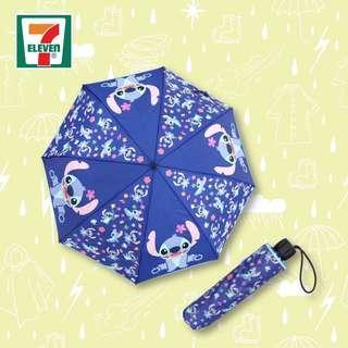 Disney 史迪仔 stitch 縮骨遮  雨傘
