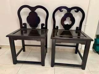 🚚 Antique chair (good quality) x 2 pcs
