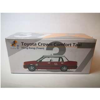 Tiny 37 紅的 TOYOTA CROWN COMFORT TAXI  Hong Kong (Town) 市區的士 第二版 (FN6558) 微影