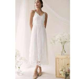🚚 TTR Halia Lace Maxi Dress in White (XS)