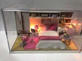 LED燈模型睡覺房場景