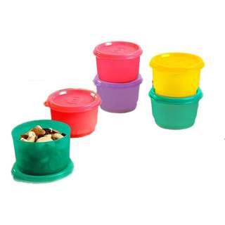 🚚 BN Tupperware Snack Cup 110ml (Red)