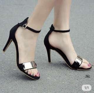 Black Strappy Heels