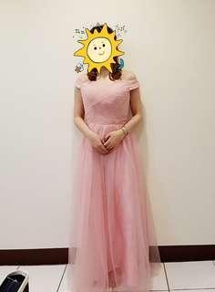 🚚 長版伴娘服粉色