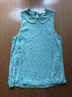 Love Bonito green lace top
