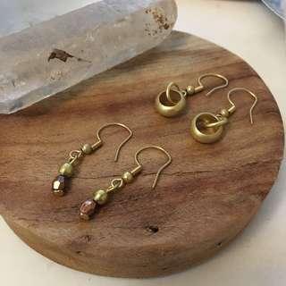 🚚 「各式80-100元黃酮、銀飾耳環、手做手環」#一百均價