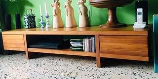 Scanteak TV Console with two drawers