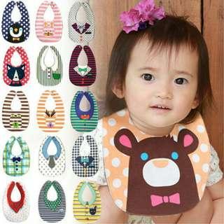 🇯🇵日本西松屋防水純棉雙面幼兒口水圍巾👶