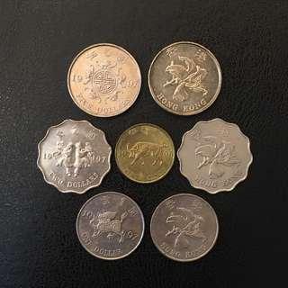 1997 回歸年硬幣 (四款)
