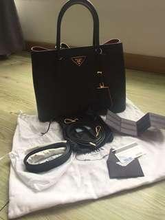 Prada Saffiano Cuir double tote Bag