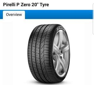 """Tyres only, Pirelli P zero 20"""" staggered set up"""