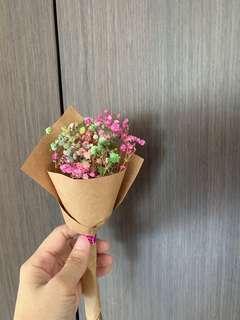 20cm mini dried baby breath flower bouquet