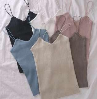 [PO] Ulzzang Knitted Camisole Top /C/