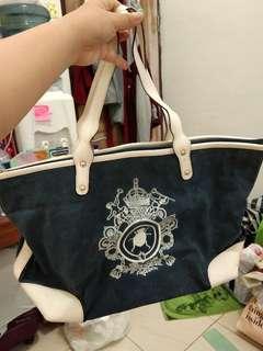 Tote Bag Blue & White