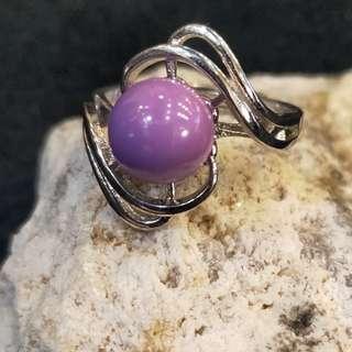 ⭐️Ring (Phosphosiderite*紫云母)