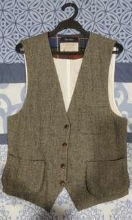 Grey Fabric Vest