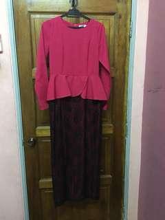 Zalia Peplum Dress
