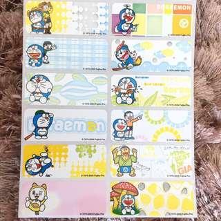 Name Sticker Doraemon cartoon large label Chinese or English words