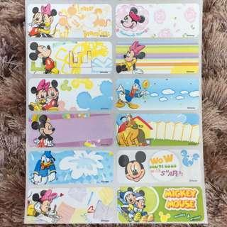 Name Sticker  Mickey cartoon large label Chinese or English words