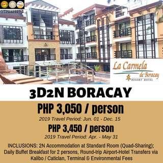 3D2N Boracay Tour Package (La Carmela De Boracay)