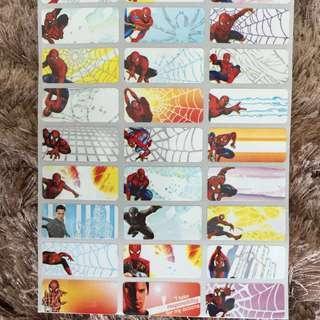 Name Sticker Spiderman cartoon medium label Chinese or English words