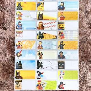 Name Sticker LEGO cartoon medium label Chinese or English words