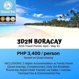 3D2N Boracay (Island Inn Hotel)
