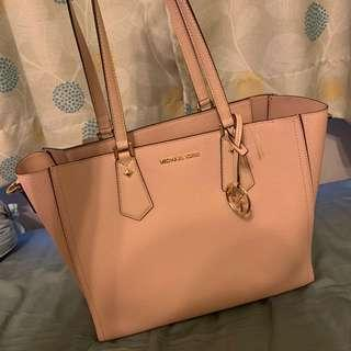 Michael Kors Kimberly Tote (Light Pink) + clutch and crossbody (removable!)