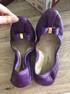 Salvatore Ferragamo My Joy Flats Purple