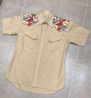 Dry Bones Cowboy Shirt  made in japan  Size:36