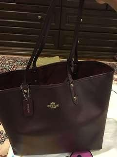 Coach Reversible Oxblood City Tote