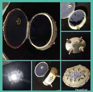 全新閃石名貴古董款優雅首飾盒,重手new in box elegant antique style jewellery box