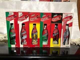 2004 世界杯 可口可樂 1套6樽