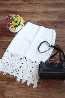 🚚 TEMT White Lace Skirt