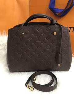 💥GOOD DEAL💥Louis Vuitton Montaigne MM In Empreinte Leather