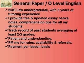 General Paper Gp, english