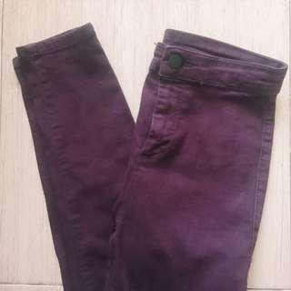 TOPSHOP Maroon Joni Jeans
