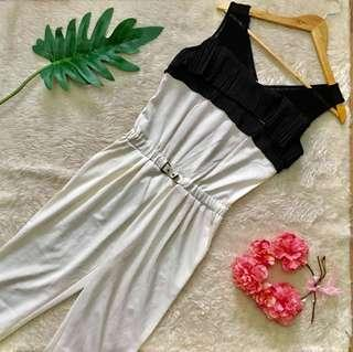White Belted Jumpsuit