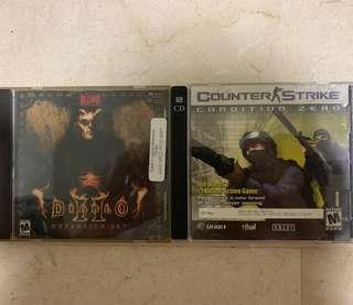 Diablo 2 & Counter Strike Condition Zero CD