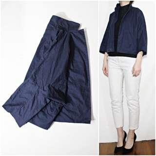 義大利製 MARNI 靛藍高支棉解構寬版襯衫外套