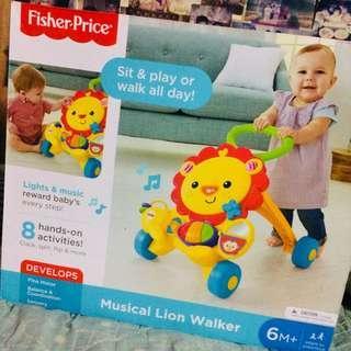 Musical Lion Push Walker
